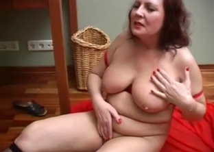 Redhead mom gives her son a passionate deepthroat