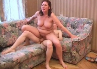 big-boobed mother nicely jumps on her son