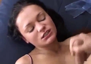 Hardcore sex in doggy style with a brunette sister